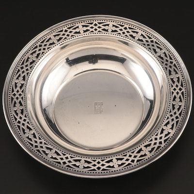 Tiffany & Co. Sterling Silver Bowl with Pierced Rim, Early to Mid 20th Century