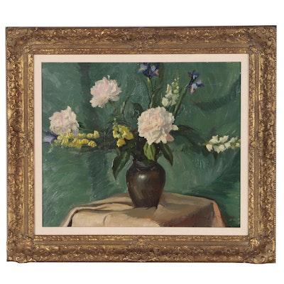 Edmond J. Fitzgerald Still Life Oil Painting, Mid 20th Century