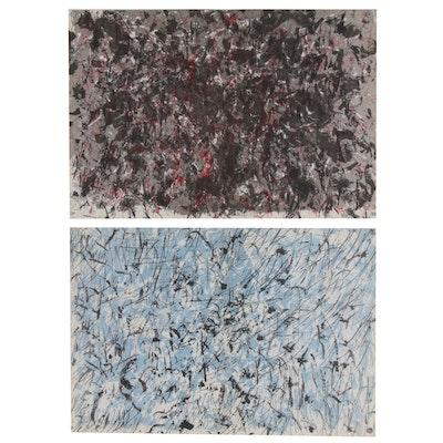 """François Fiedler Color Lithographs for """"Derrière le Miroir"""""""