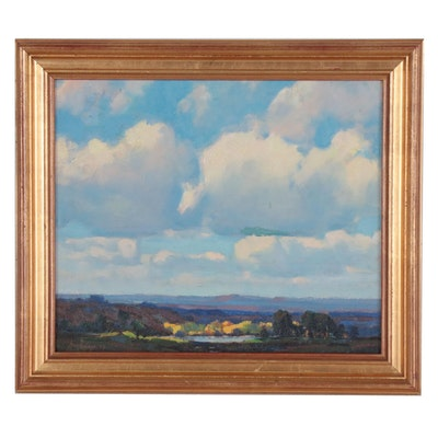 Harry William Powers Landscape Oil Painting, Early 20th Century
