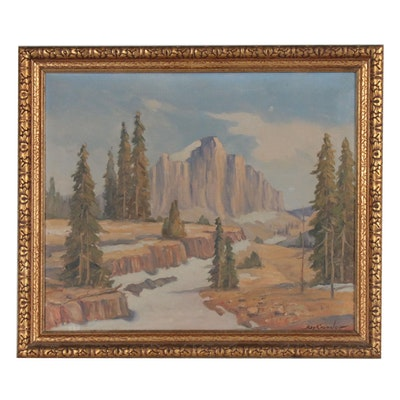 Ray Crowder Western Landscape Oil Painting
