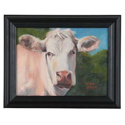 Norma Wilson Oil Painting of Cow