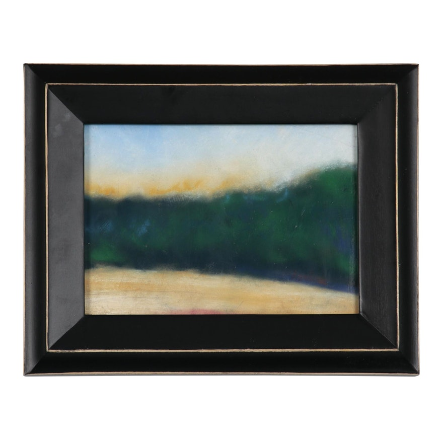 Polly Hart Landscape Study Pastel Drawing