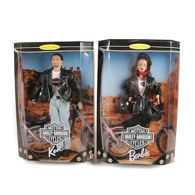 Harley-Davidson Barbie and Ken Dolls, Sealed in Box, 1998