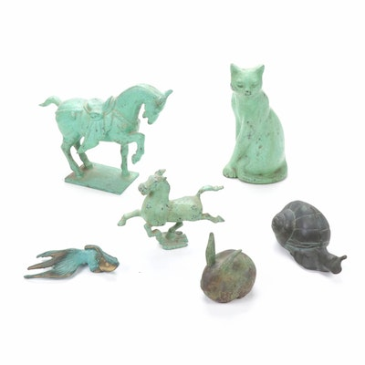 Cast Metal Animal Figurines