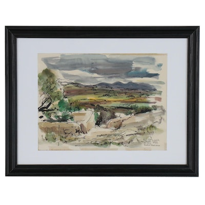 Robert Freiman Landscape Watercolor Painting