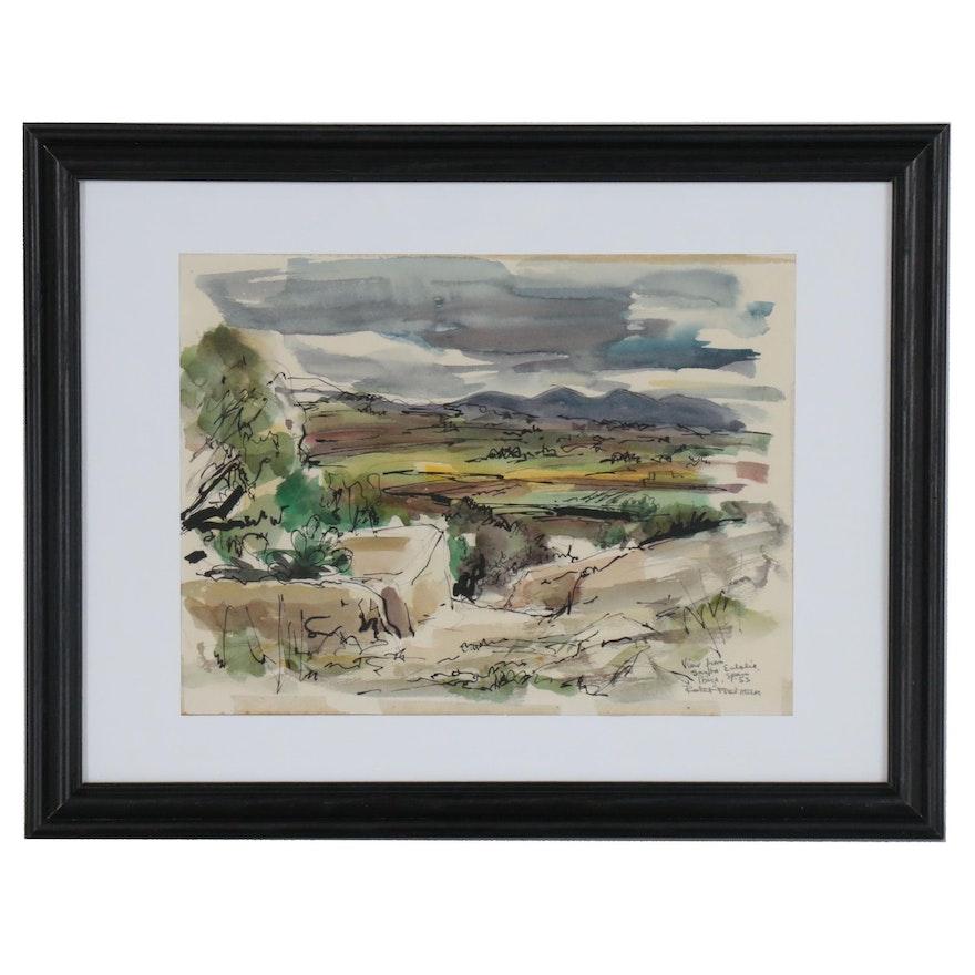 Robert Freiman Landscape Watercolor Painting
