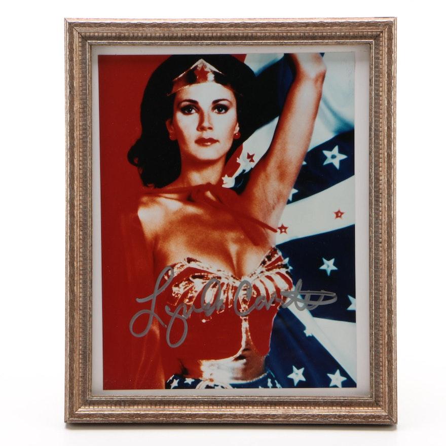 "Lynda Carter Signed ""Wonder Woman"" Super Hero Framed Photo Print"