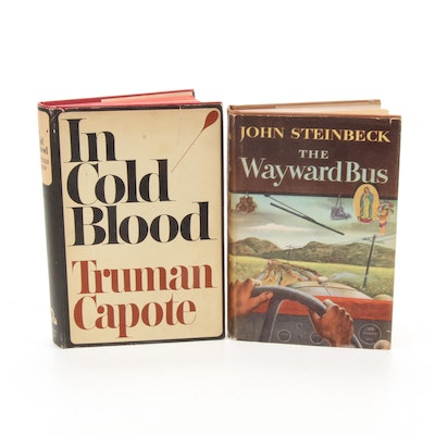 """The Wayward Bus"" by J. Steinbeck with ""In Cold Blood"" by Capote, Book Club Ed."