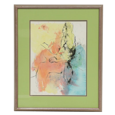 Roth Watercolor Figure Painting, 1972