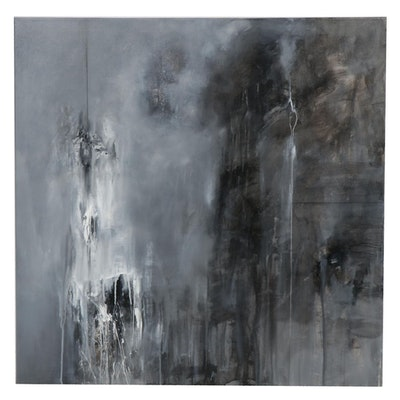 """David Senecal Acrylic Painting """"Precariot 6"""""""
