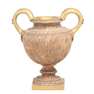 Large Grecian Style Plaster Urn, 21st Century