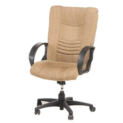 Sealy High-Back Upholstered Office Chair, 21st Century
