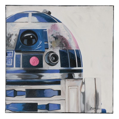 Chris Cargill Acrylic Painting of R2-D2