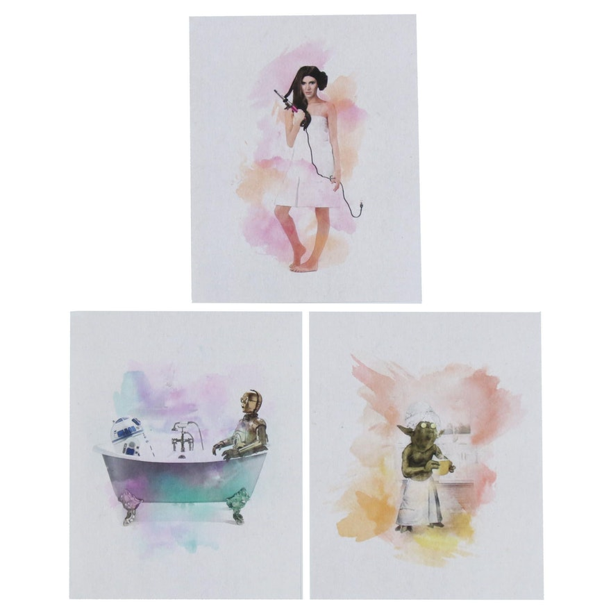 """""""Star Wars"""" Prints of Characters in Bathroom"""