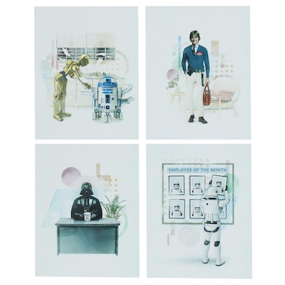 """Star Wars"" Prints of Characters in Offices"