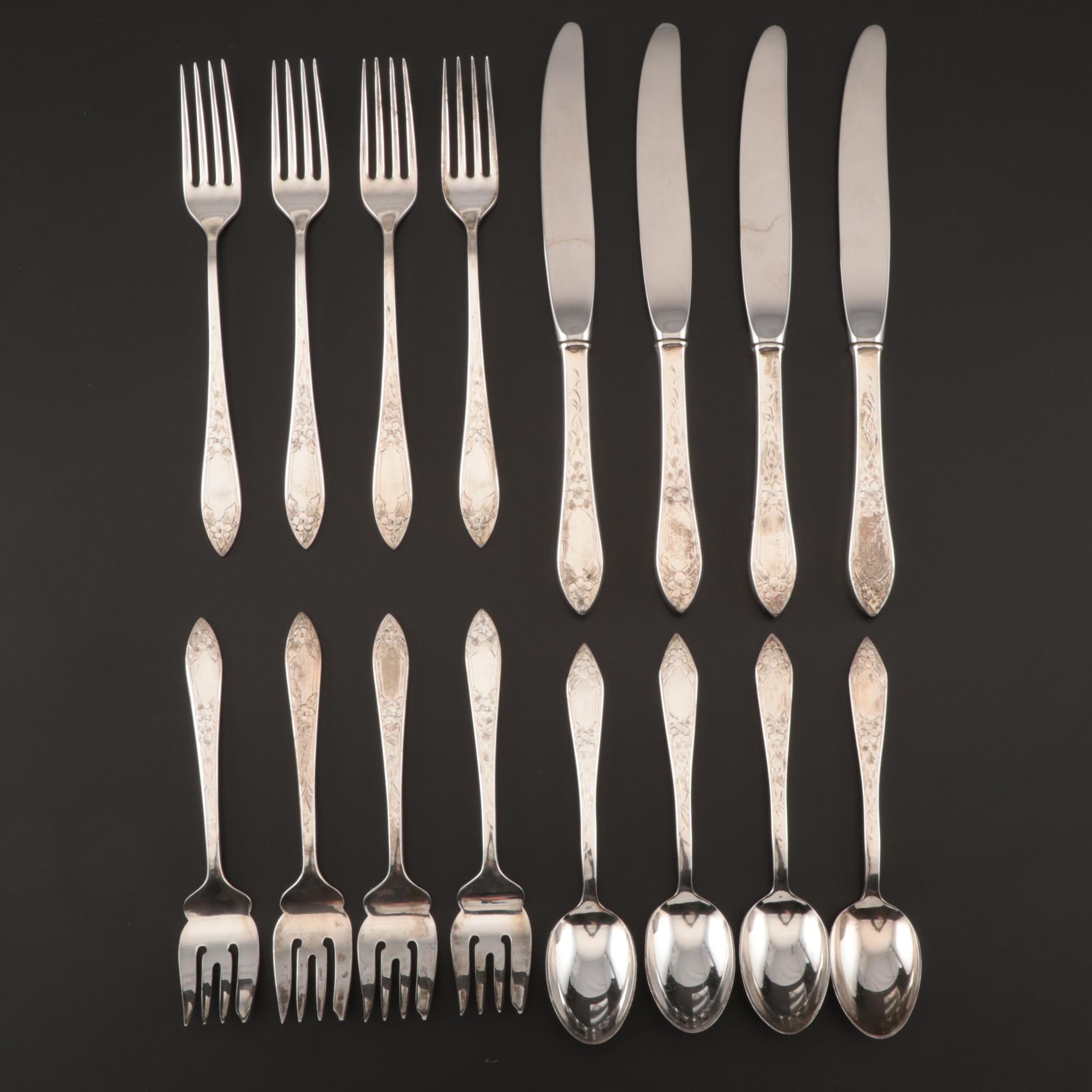 Watteau By Durgin Sterling Silver Fish Fork 7 38