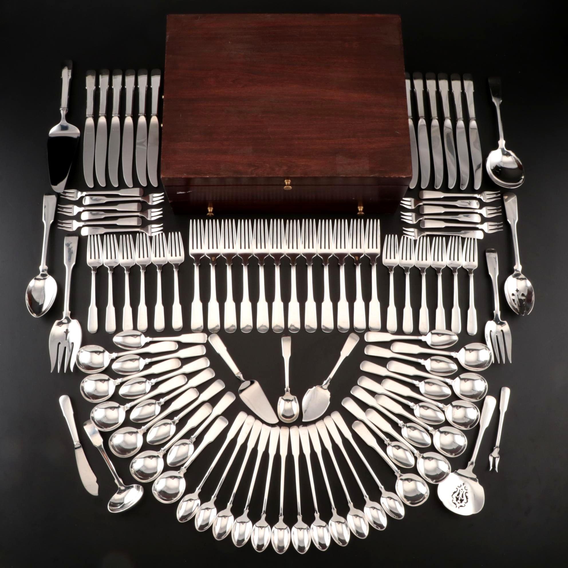 Colonial Fiddle by Tuttle Sterling Silver Serving Spoon Pierced Original 9