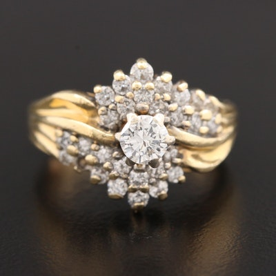 14K Yellow Gold 1.00 CTW Diamond Ring