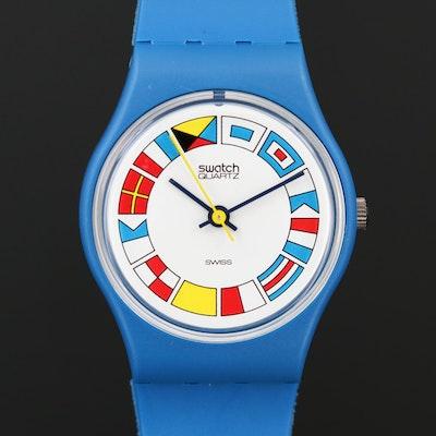 Vintage Swatch 12 Flags Quartz Wristwatch, 1984