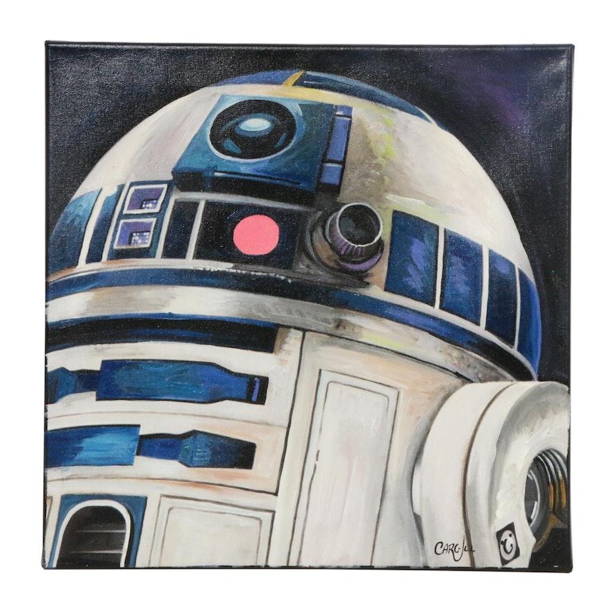Chris Cargill Acrylic Painting of R2-D2
