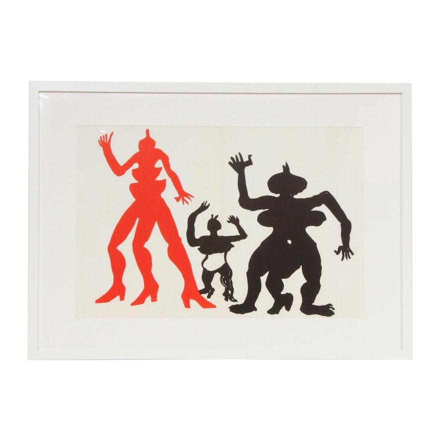 """Alexander Calder Double-Page Color Lithograph for """"Derrière le Miroir,"""" 1975"""