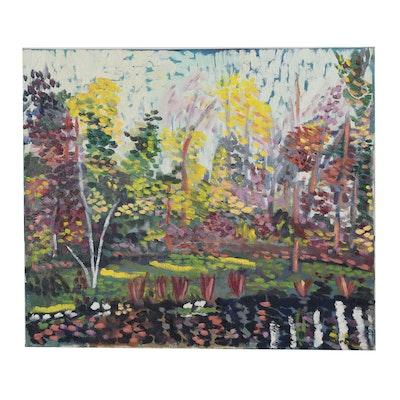Jerald Miranov Impressionist Style Landscape Impasto Oil Painting