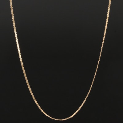 14K Yellow Gold Serpentine Chain