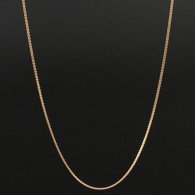UnoAErre 14K Yellow Gold Serpentine Chain