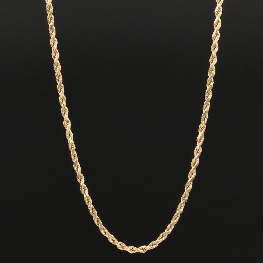 14K Yellow Gold French Rope Chain