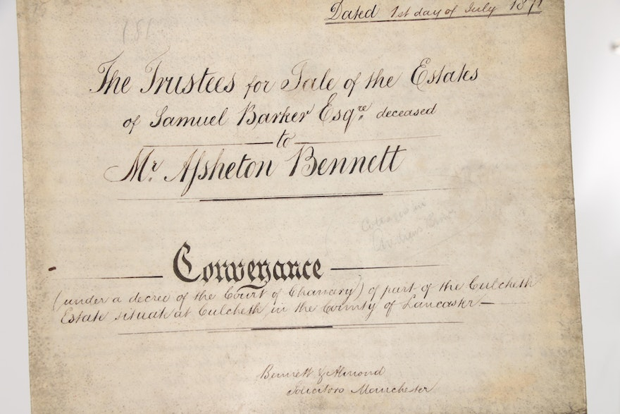 British Indenture Documents On Vellum With Tax Stamps
