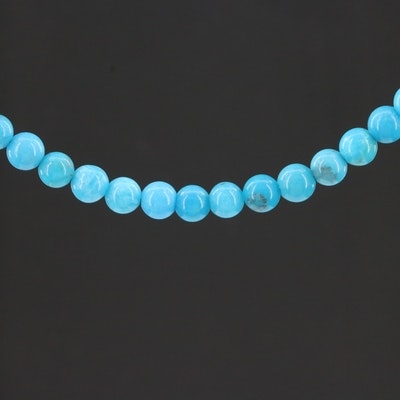 Turquoise Necklace with 14K Gold Clasp
