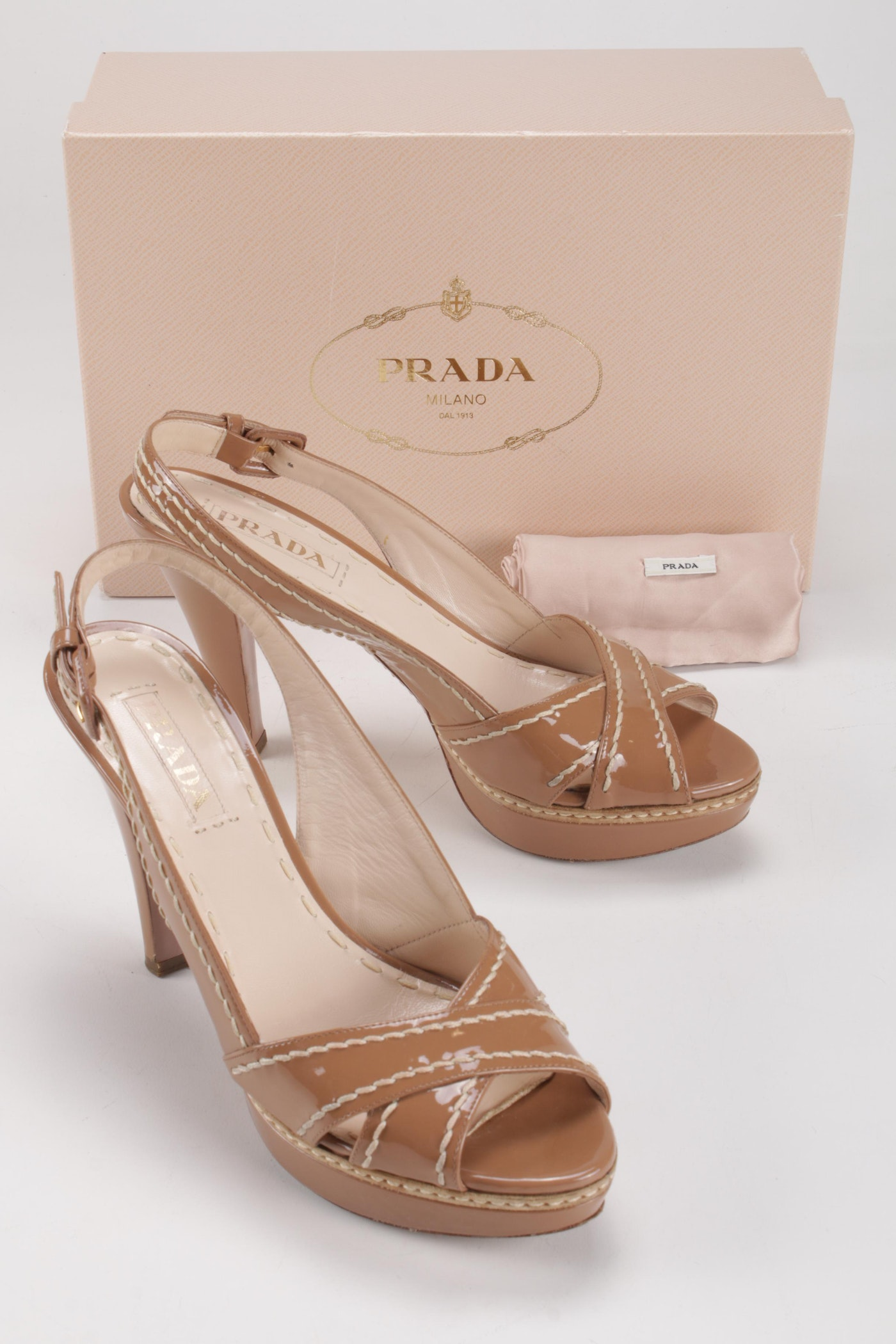 Nude Patent Heeled Strappy Sandal | Shoes