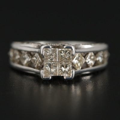 14K White Gold 1.30 CTW Diamond Ring