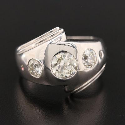 14K White Gold 1.98 CTW Diamond Ring