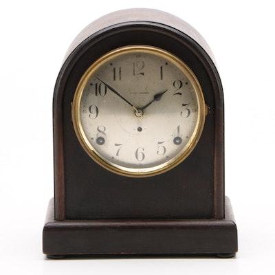 Seth Thomas Mahogany Finished Beehive Tombstone Shelf Clock, Vintage