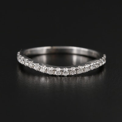 14K White Gold Diamond Countour Ring