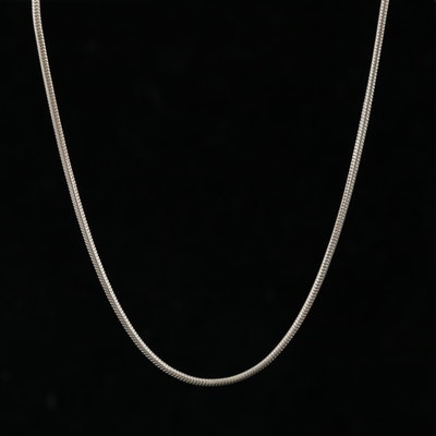 Mexican Sterling Silver Snake Chain