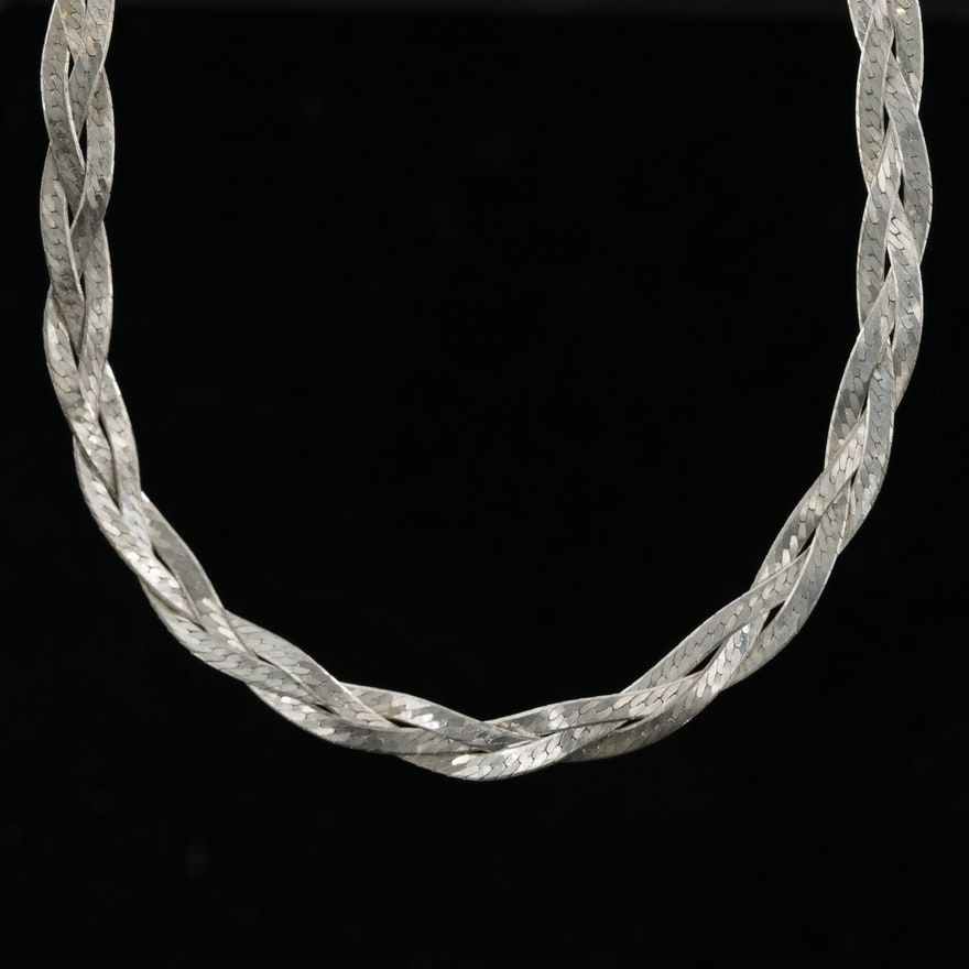 Sterling Silver Braided Herringbone Chain