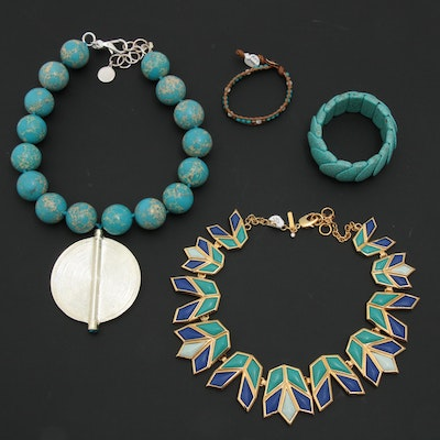 Necklaces and Bracelets Including Chan Luu and Lele Sadough