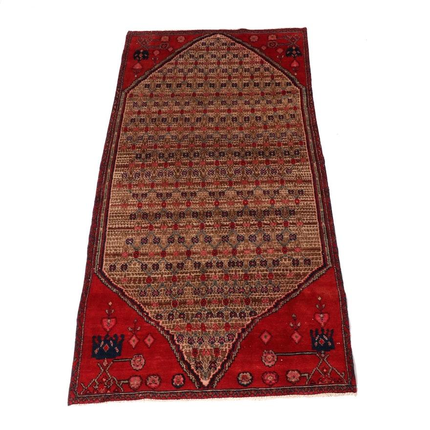3'8 x 7'7 Hand-Knotted Persian Bidjar Rug