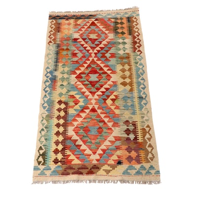 3'4 x 6'7 Handwoven Turkish Kilim Wool Rug