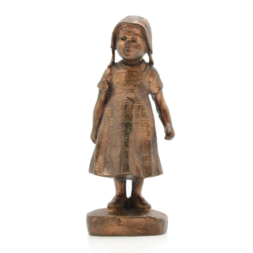 Julius Paul Schmidt-Felling Bronze Sculpture of Young Girl
