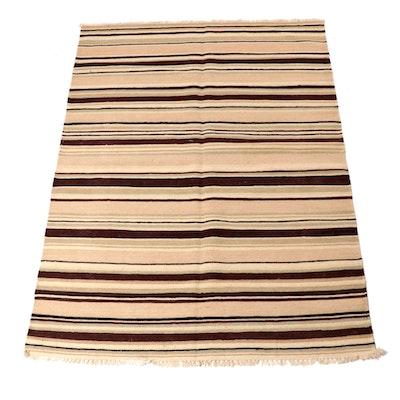 4'8 x 6'8 Handwoven Turkish Kilim Rug