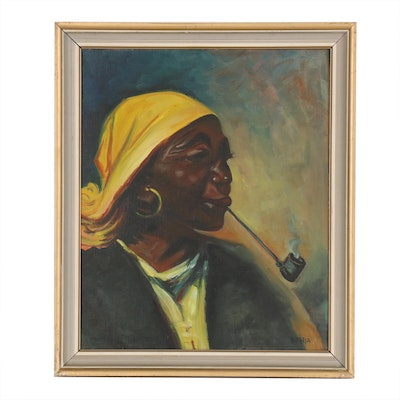 Jacques Mels Portrait Oil Painting