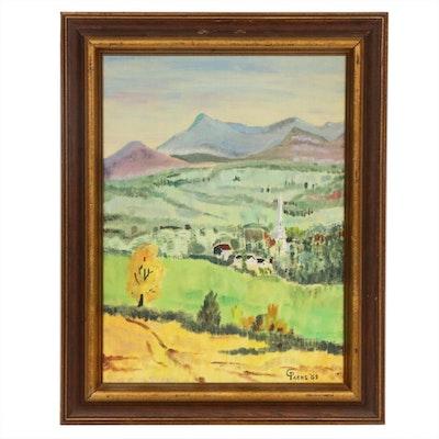 C. Parks Landscape Oil Painting, 1969
