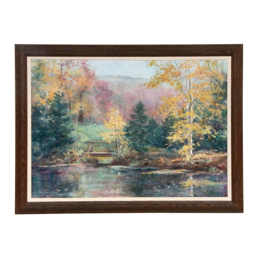 Constance Heady Forest Lake Landscape Oil Painting
