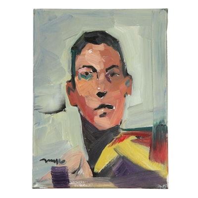 """Jose Trujillo Oil Painting """"School Boy Portrait 2"""""""