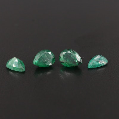 Loose 2.71 CTW Pear Shaped Emerald Gemstones