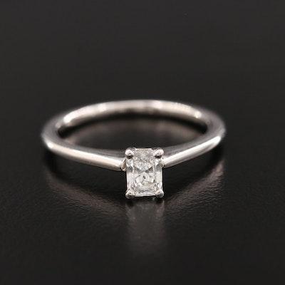 14K White Gold 0.35 CT Diamond Ring